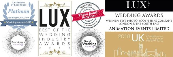 Awards recieved by Animation Events for Photo Booth Hire in Surrey, London, Hampshire and Berkshire