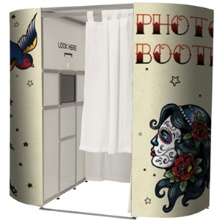Our very cool Tattoo photo booth for hire in London and Surrey