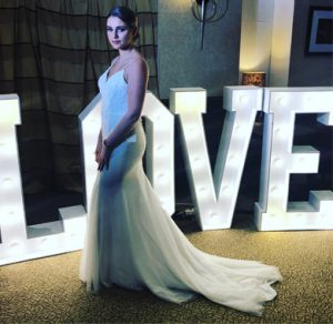 Bride with LED LOVE lights from Animation Events