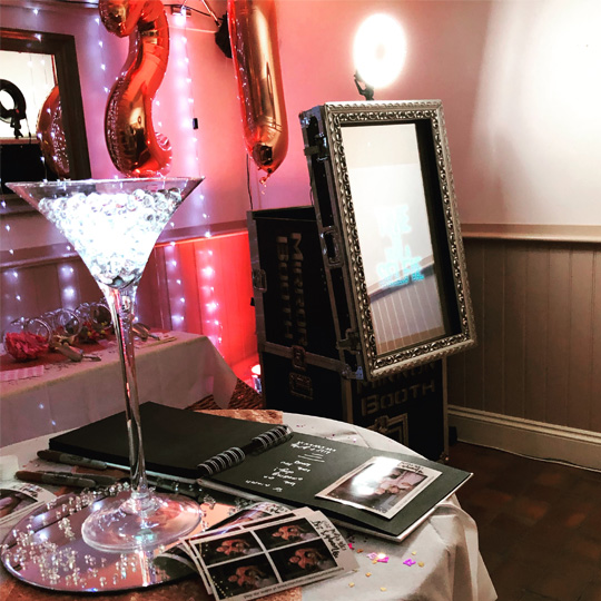 Our LITE Magic Mirror photo booth hire in Surrey