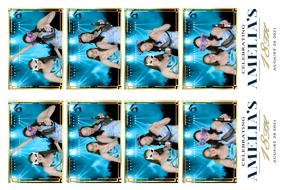 Photo booth strip prints for Amelia's 18th