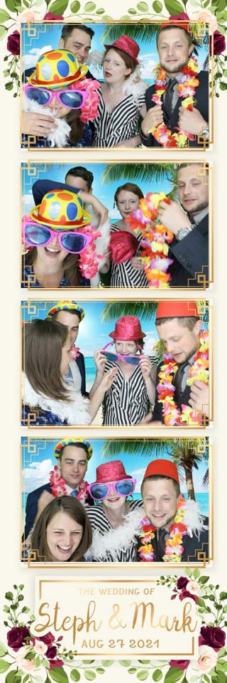 Strip print of wedding fun from a photo booth