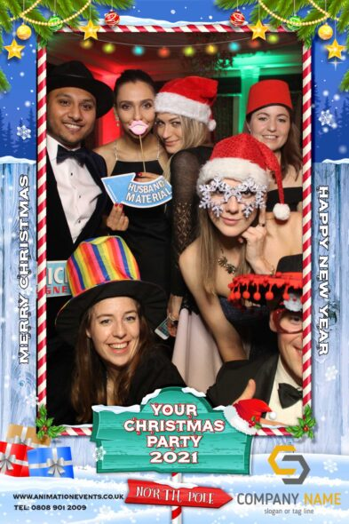 Christmas photo booth by Animation Events